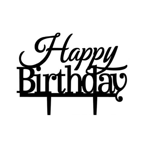 Happy Birthday Set Cake Topper acrylic cake topper quot happy birthday quot