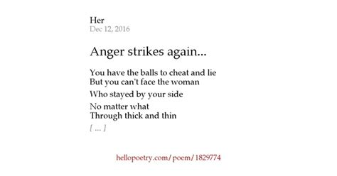 Hello Strikes Again by Anger Strikes Again By Cyphers Hello Poetry
