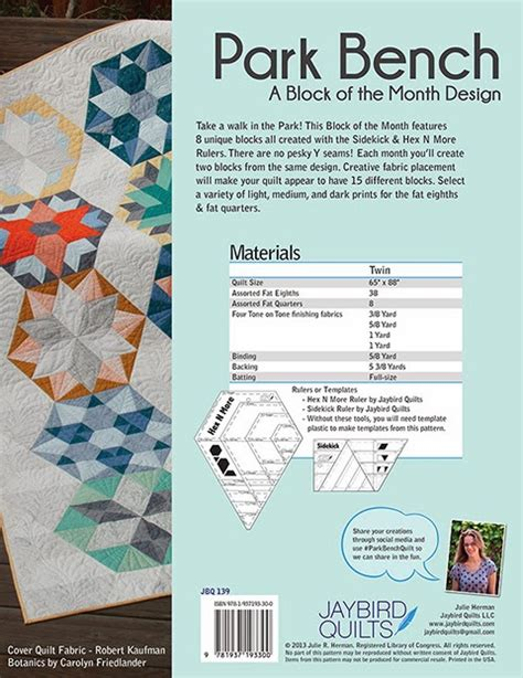park bench quilt pattern park bench block of the month jaybird quilts