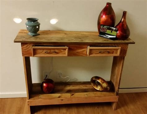 rustic pallet wood entry hallway table pallet ideas