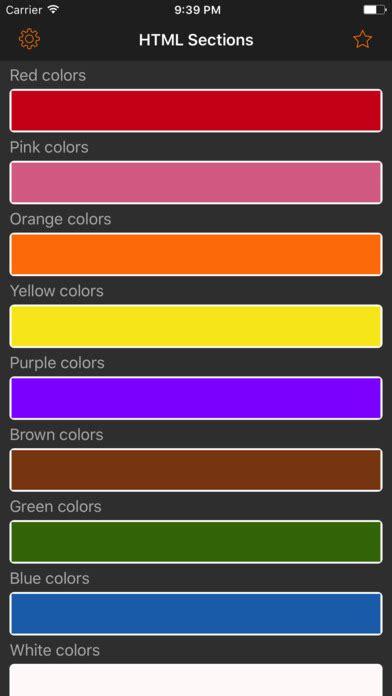 color code app html color codes web palette app android apk