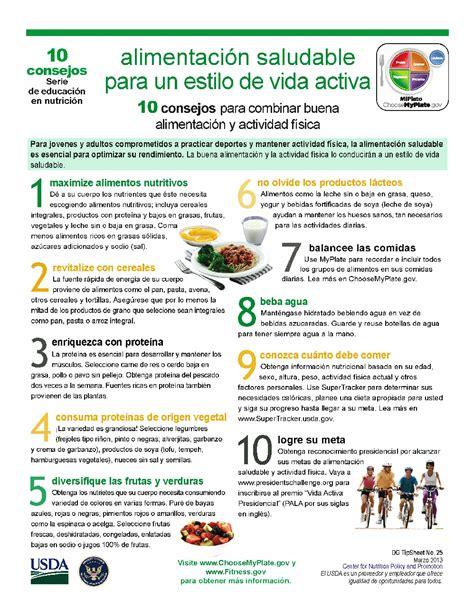 10 consejos para lograr un mi plato 10 consejos para combinar buena alimentacion y