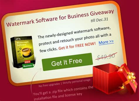 Giveaway Software 2014 - watermark software giveaway photo watermark business edition daves computer tips