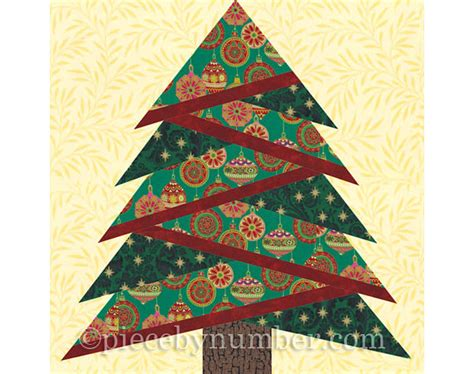 pattern paper christmas tree pine tree quilt block pattern paper piecing quilt pattern