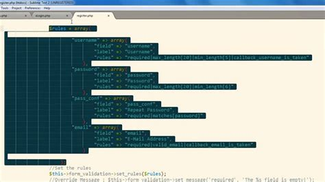 codeigniter login tutorial part 2 form validation