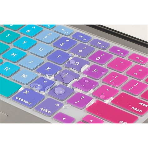 Garskin Skin Laptop Asus Us rainbow color silicone keyboard cover protector skin for