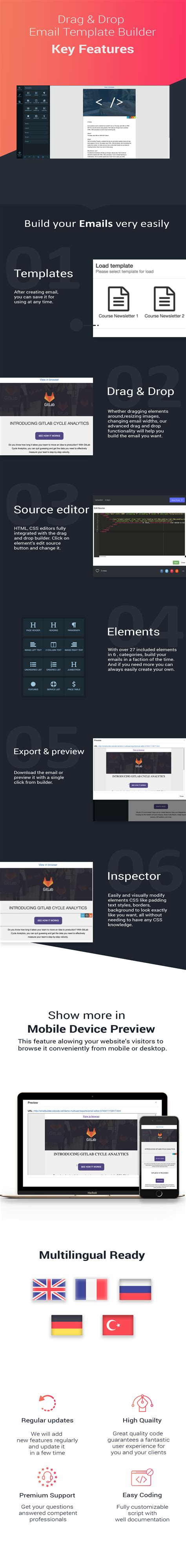Drag Drop Email Template Builder For Jquery Codeholder Net Free Email Template Builder Drag And Drop