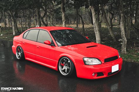 stanced subaru from japan with fitment subaru legacy b4 blitzen