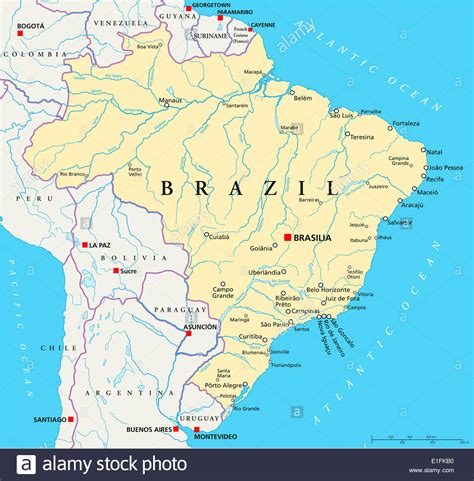brazil political map brazil political map with capital brasilia national