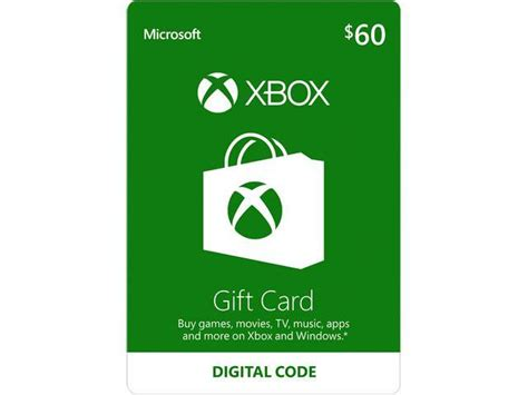 xbox gift card 60 us email delivery newegg com - Xbox Gift Cards Email Delivery