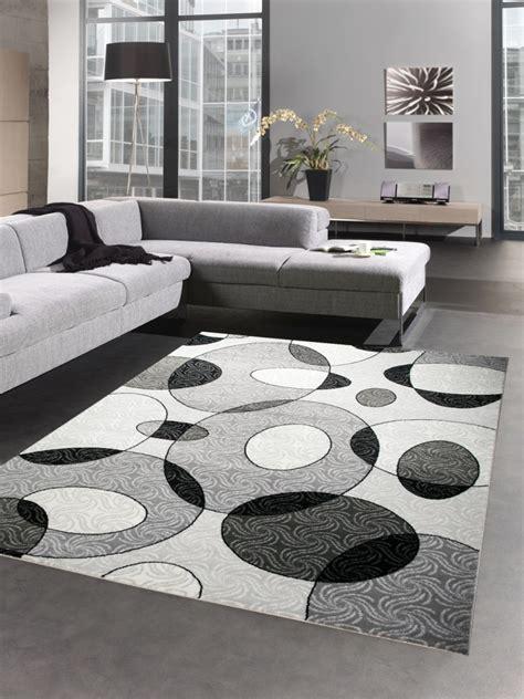 tappeti da salotto moderni tappeti moderni tappeto da salotto cerchio grigio nero ebay