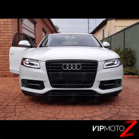 Drl Audi by 2009 2011 Audi A4 B8 Infinity Black Projector Headlight