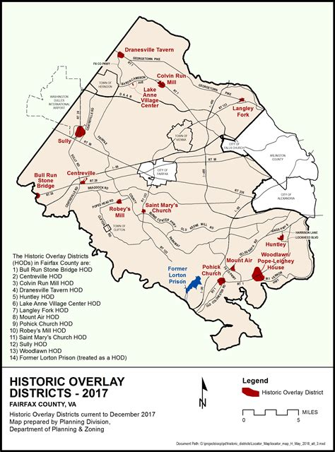 fairfax county virginia gis planning historic overlay districts planning zoning