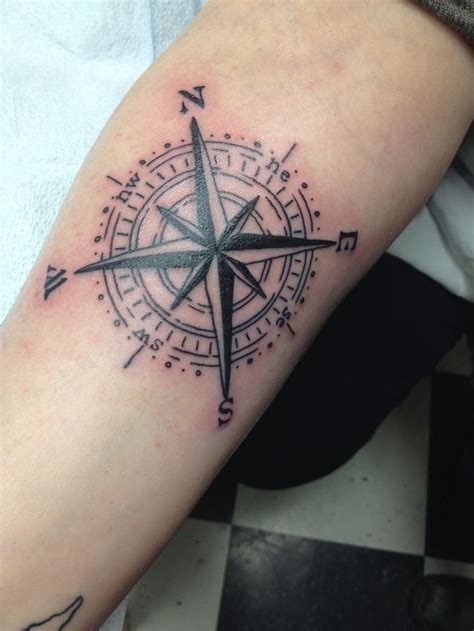tattoo compass nautical compass on forearm tattooshunt