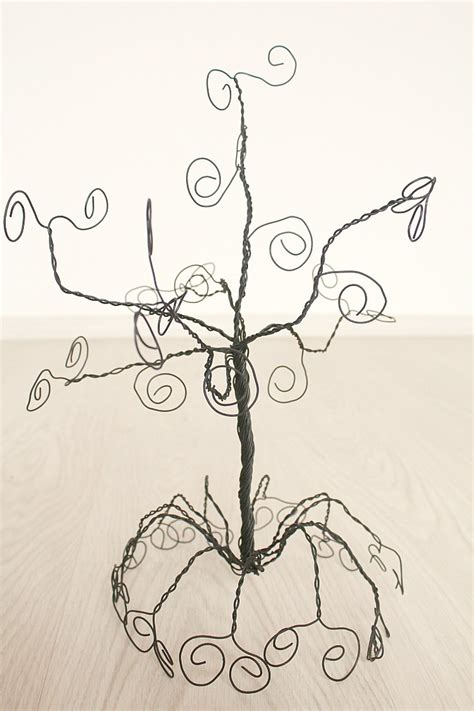 make your own jewelry tree diy jewelry holder tree made out of wire