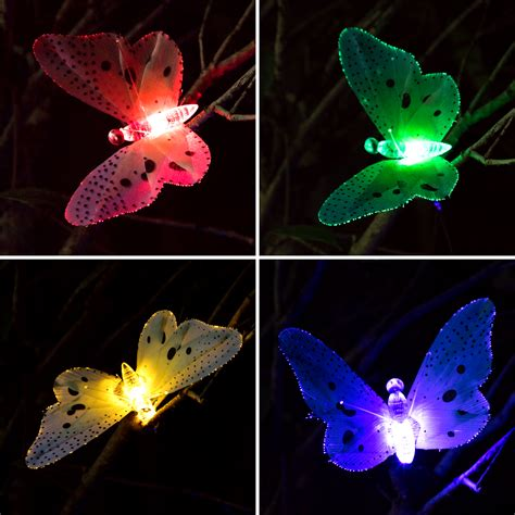 12x New Led Solar Butterfly Colorful String Fairy Lights Butterfly Lights String