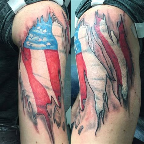 american flag tattoo on lower best 25 skin tear ideas only on ripped