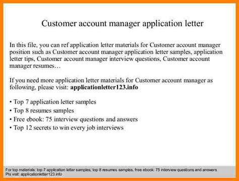 New Account Manager Introduction Letter Sle 6 account manager introduction letter introduction letter