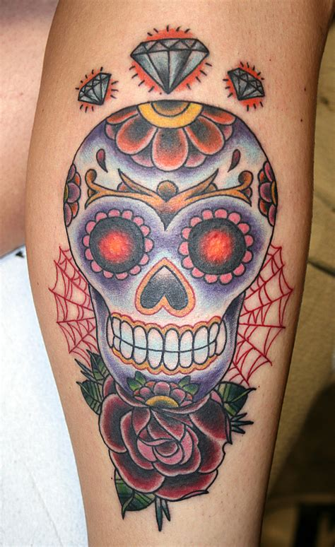 100 skull tattoos meaning sugar skull tattoo black