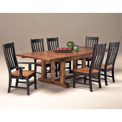 mission dining room set rustic mission dining room set w chair choices inter on
