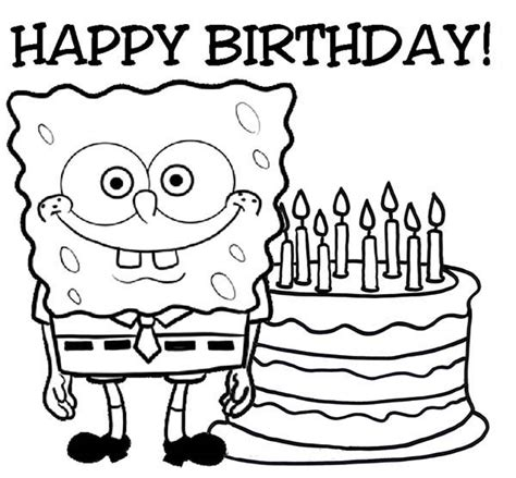 Happy Birthday Coloring Pages For Adults Coloring Pages Happy Birthday Coloring Pages For