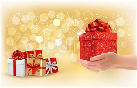christmas background with gift boxes concept of giving
