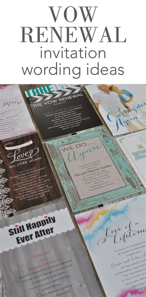 Wedding Vows Renewal Ideas by Best 25 Vow Renewal Invitations Ideas On