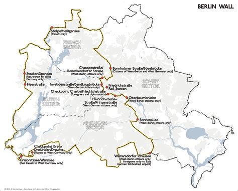 berlin wall map map of berlin wall location