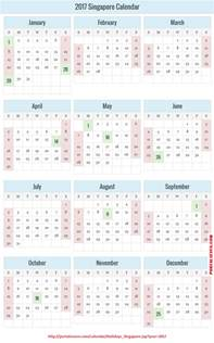 Calendar 2018 Singapore With Holidays 2017 Singapore Holidays Calendar