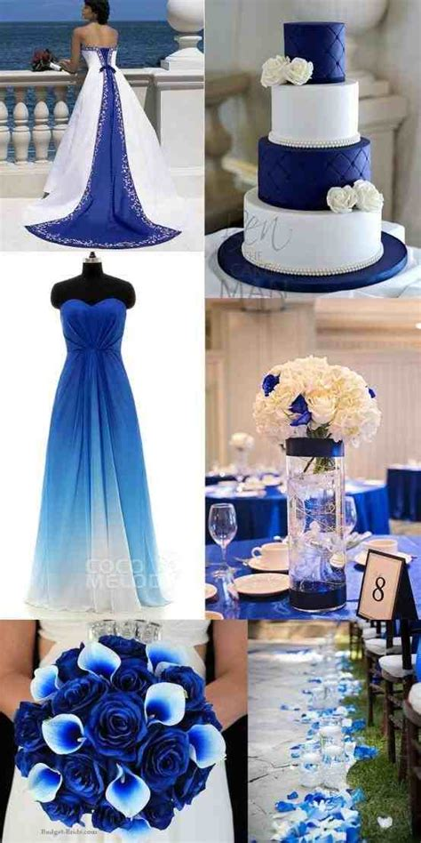 blue and silver theme royal blue wedding theme ideas weddings234