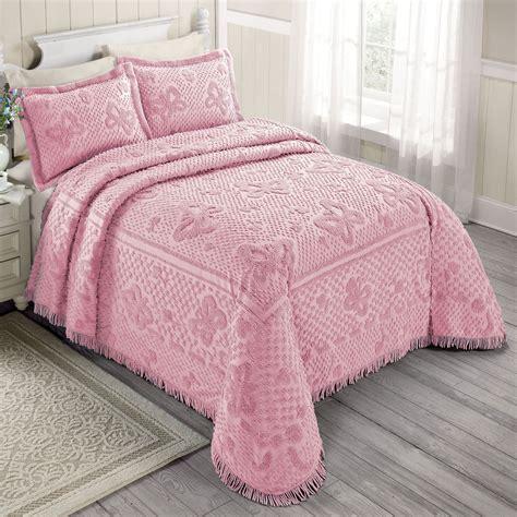 Pretty Warm Vintage Chenille Bedding Set Atzine Com Chenille Bedding Sets