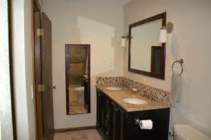 bathroom vanity backsplash ideas 23 ideas of glass tile trim bathroom
