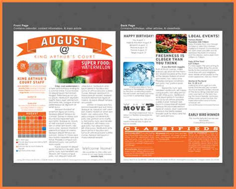 3 printed newsletter templates newsletter template