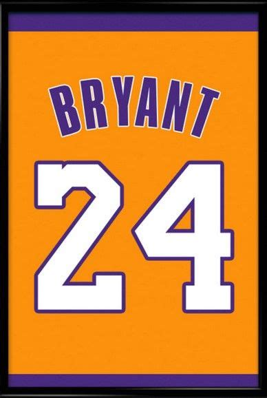 best gifts for lakers fans kobe bryant number 24 los angeles lakers jersey art print