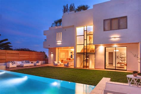 striking contemporary estate with views in the