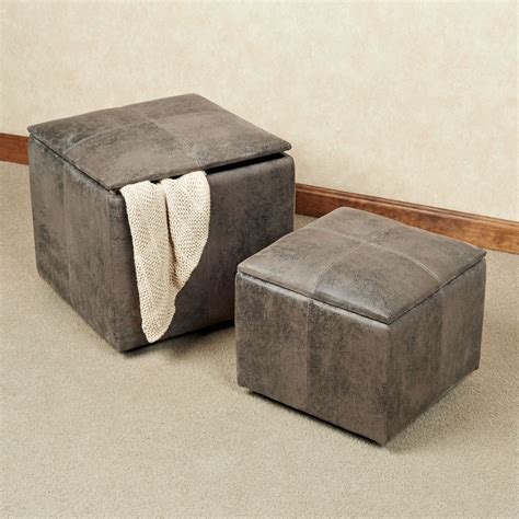 storage ottoman gray nexus dark gray storage ottoman set