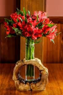 Wood Log Vases by Hollow Log Wooden Flower Vase Rustic Flower Vase Home Decor Tree Branch Wood