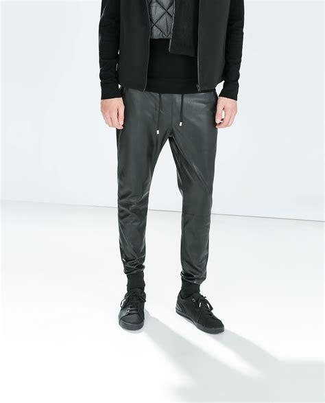 Joggerpant Zara Denim zara in black for lyst