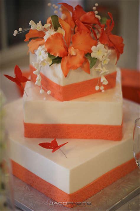 elegant garden wedding  orange  black