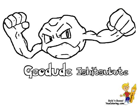 pokemon coloring pages geodude pokemon geodude colouring for boys