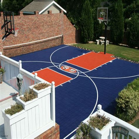 diy backyard basketball court easy to install diy basketball court pickleball court