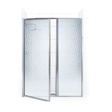 Shower Door And Panel Coastal Shower Doors Legend Series 40 In X 69 In Framed Hinged Shower Door With Inline Panel