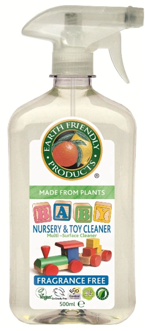 Cradle Toys Surface Cleaner Spray Bottle 500ml baby nursery and cleaner 500ml earth friendly products greenbrands co uk