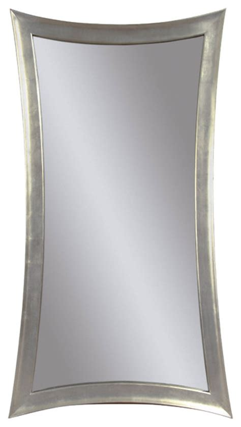silver leaf rectangle wall mirror modern mirrors by
