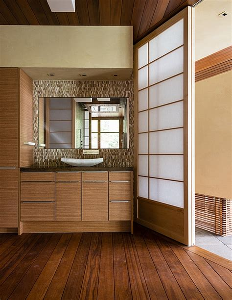 changing room japan japanese design inspired pool house and spa showcases stunning lake views