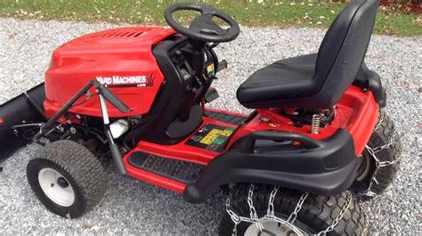 mtd yard machines hp garden tractor  plow  chains