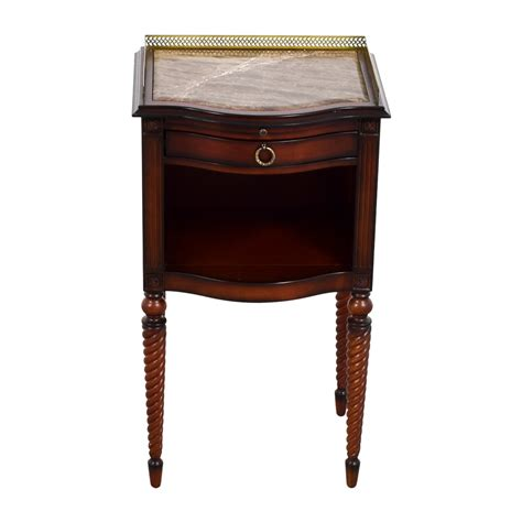 marble top accent table 71 off bombay bombay marble top with gold trim wood accent table tables