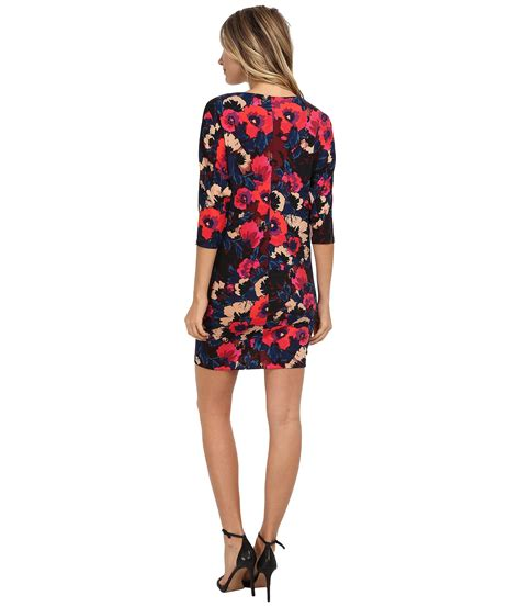 Dress Tyasie Wedges Scuba 81 donna 3 4 sleeve printed scuba wedge dress at 6pm