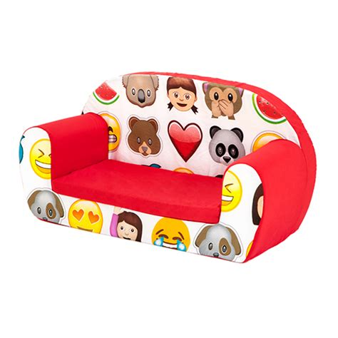couch emoji emoji emoticons kids children s double foam sofa toddler seat nursery chair ebay