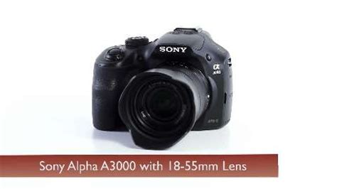 sony alpha a3000 digital camera with 18 55mm lens ilce3000k/b
